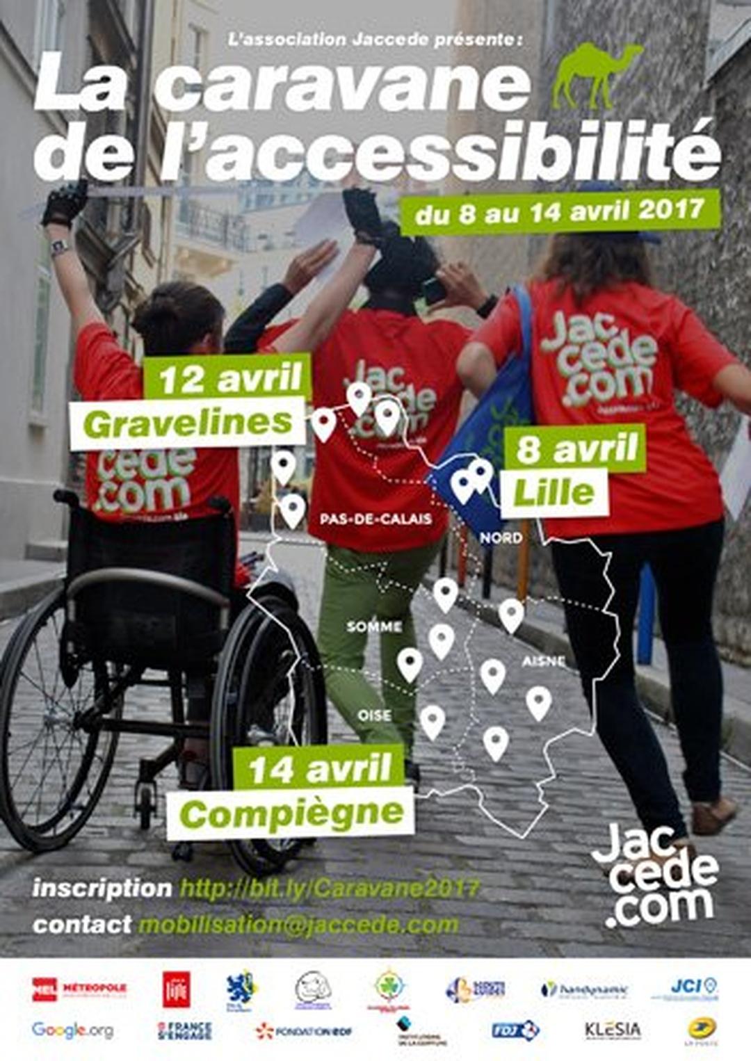 Affiche de la Caravane de l'accessibilité 2017 dans les Hauts-de-France