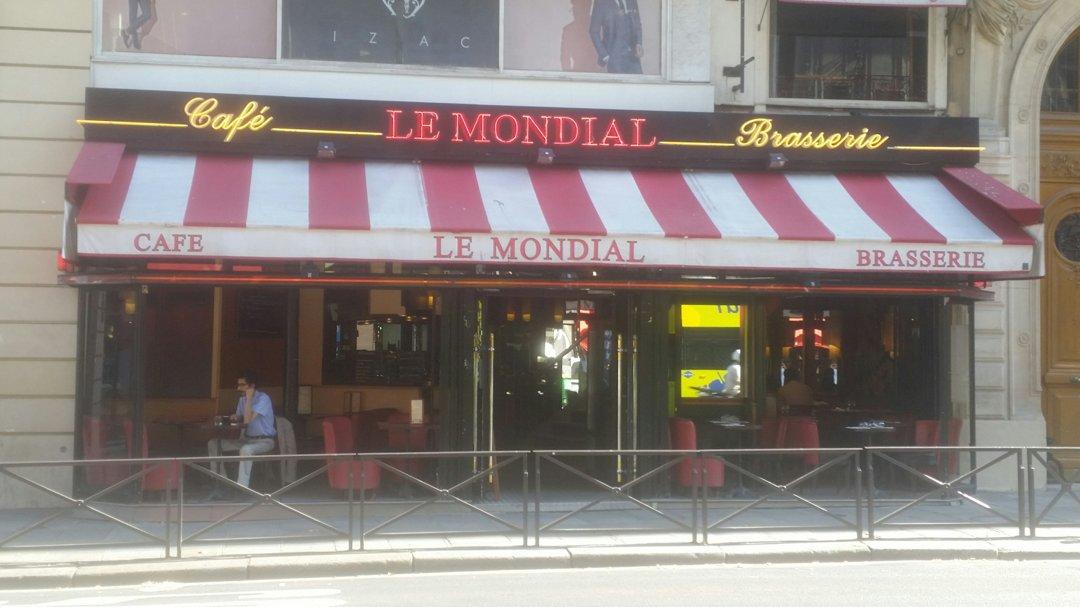 Foto del 26 de agosto de 2016 9:07, Le Mondial - Brasserie traditionnelle Paris Opéra, 12 Rue Auber, 75009 Paris, Francia