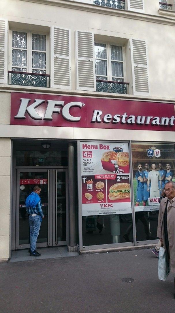 Foto vom 18. Oktober 2016 08:55, Kentucky Fried Chicken, 4 Avenue Jean Moulin, 75014 Paris, Frankreich