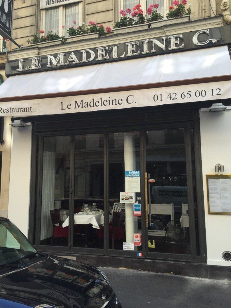 Photo du 26 août 2016 13:05, Restaurant Le Madeleine C., 5 Rue de Castellane, 75008 Paris, France