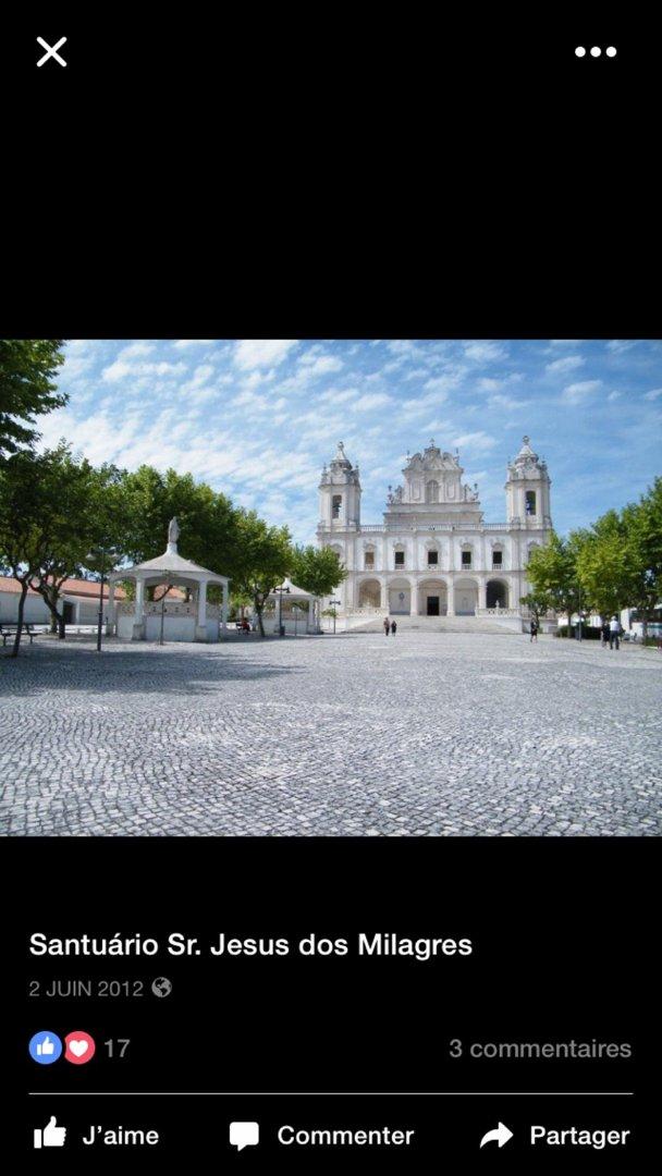 Foto vom 2. August 2016 06:55, Santuário Senhor Jesus dos Milagres, R. Cónego Amilcar 125, 2415 Milagres, Portugal