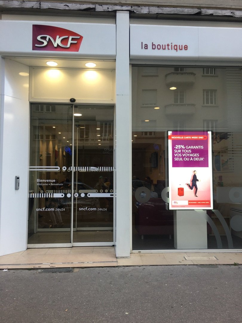 Photo of the October 18, 2016 1:41 PM, Boutique SNCF, 32 Cours Vitton, 69006 Lyon, France