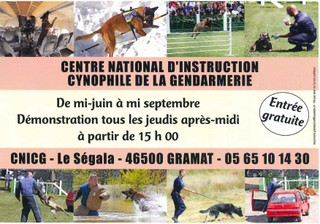 Photo of the July 1, 2018 4:57 PM, Dressage de chien policier CNICG de GRAMAT, Le Ségala, 46500 Gramat, France