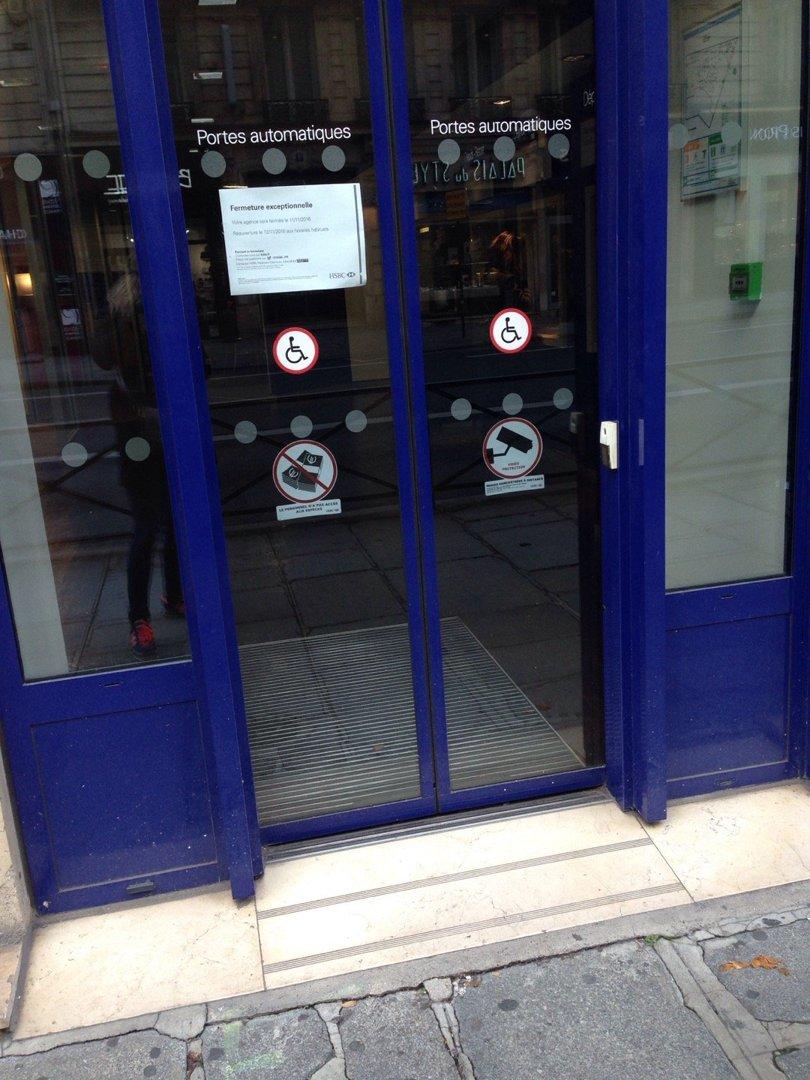 Photo of the November 8, 2016 2:20 PM, HSBC, 10 Rue Auber, 75009 Paris, France