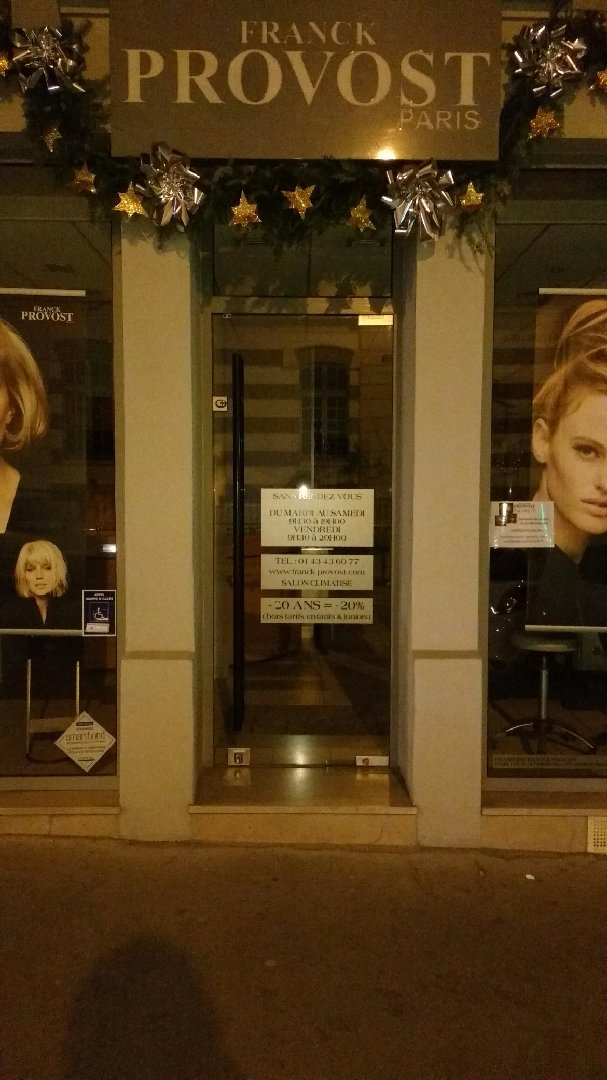Photo du 3 décembre 2016 18:56, Franck Provost - Coiffeur Paris, 40 Rue de Reuilly, 75012 Paris, France