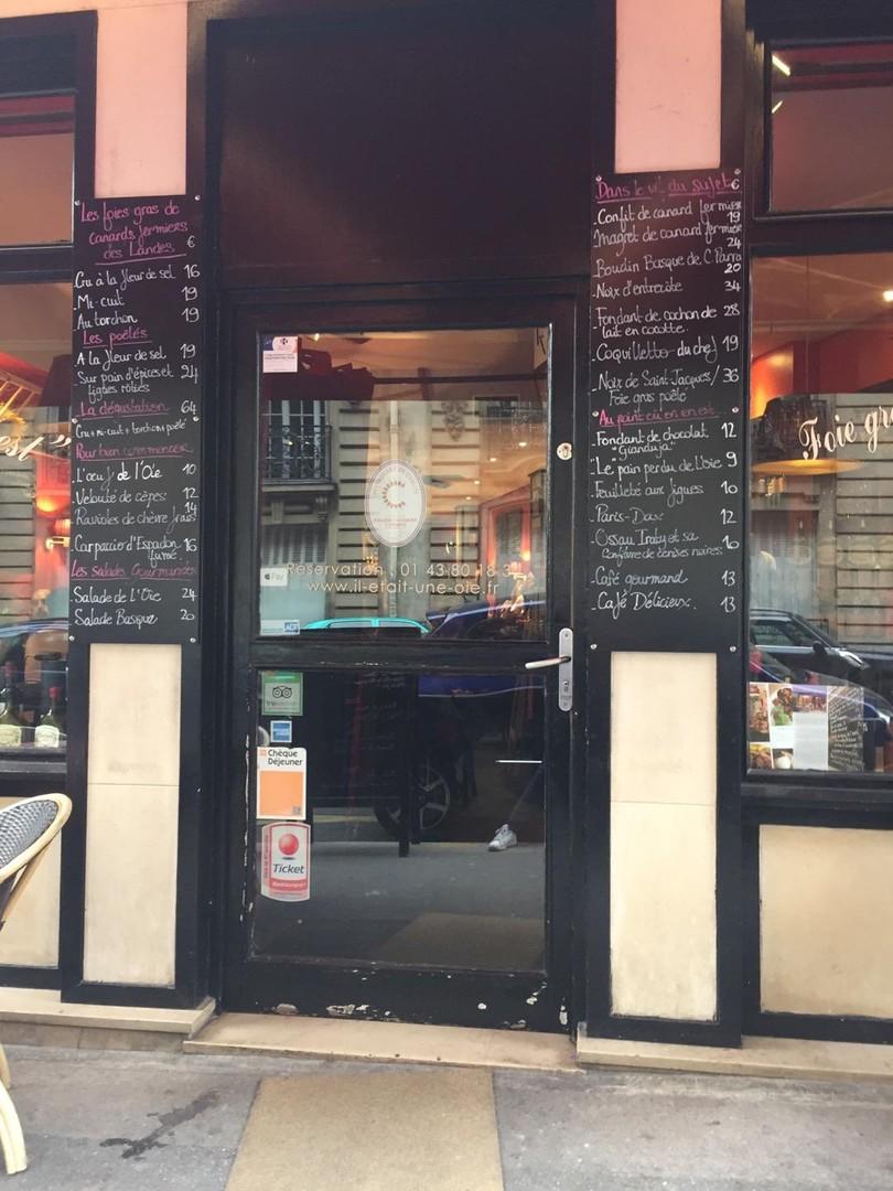 Foto del 16 de noviembre de 2017 12:51, Il Etait une Oie dans le Sud-Ouest, 8 Rue Gustave Flaubert, 75017 Paris, Francia