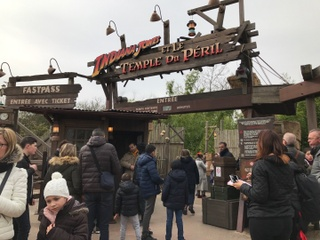 Photo of the March 3, 2017 1:22 PM, Indiana Jones et le Temple du Péril, Disneyland Paris, 77700 Chessy, France