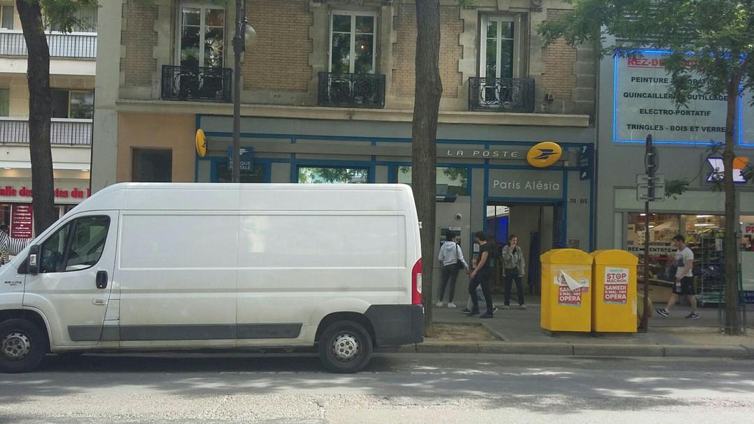 Photo of the June 16, 2018 8:36 AM, La Poste, 114Bis Rue d'Alésia, 75014 Paris, Frankreich