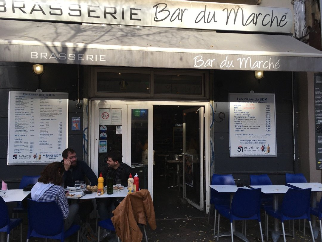 Photo of the November 26, 2016 2:05 PM, Le Bar du Marché, 15 Place Notre Dame du Mont, 13006 Marseille, Francia