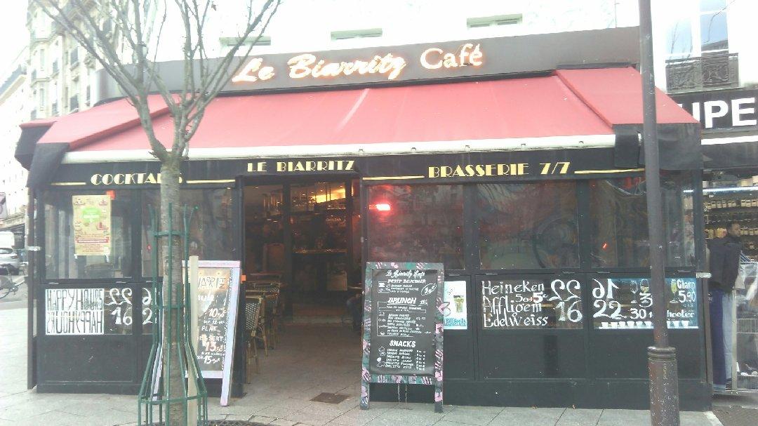 Foto vom 24. November 2016 08:38, Le Biarritz Café, 139 Boulevard de Ménilmontant, 75011 Paris, Frankreich