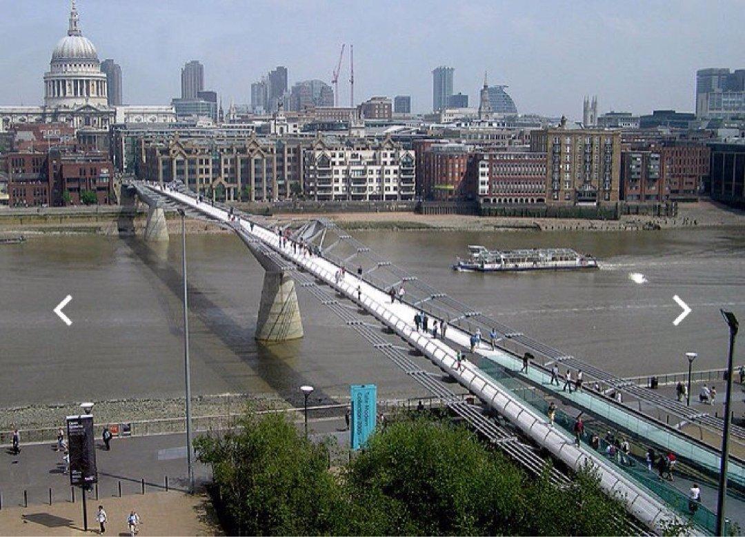 Foto vom 2. Dezember 2016 09:33, Millennium Bridge, Thames Embankment, London SE1 9JE, Vereinigtes Königreich