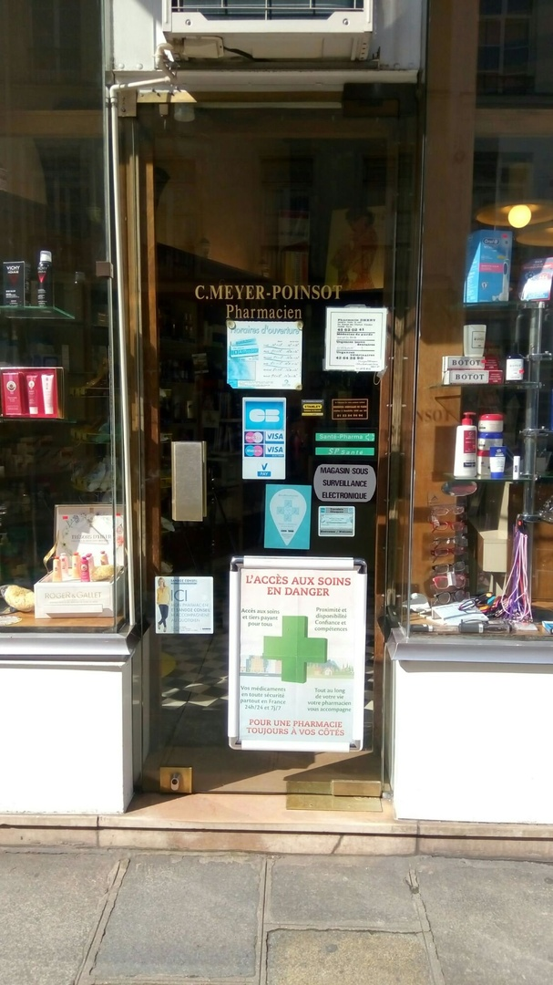 Photo du 25 mars 2017 10:23, Pharmacie Meyer - Poinsot, 37 Rue de Turenne, 75003 Paris, France