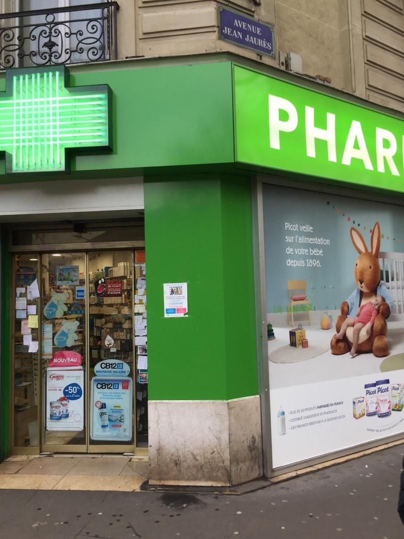 Photo du 26 décembre 2017 13:46, Pharmacie Normale des Buttes Chaumont, 94 Avenue Jean Jaurès, 75019 Paris, France