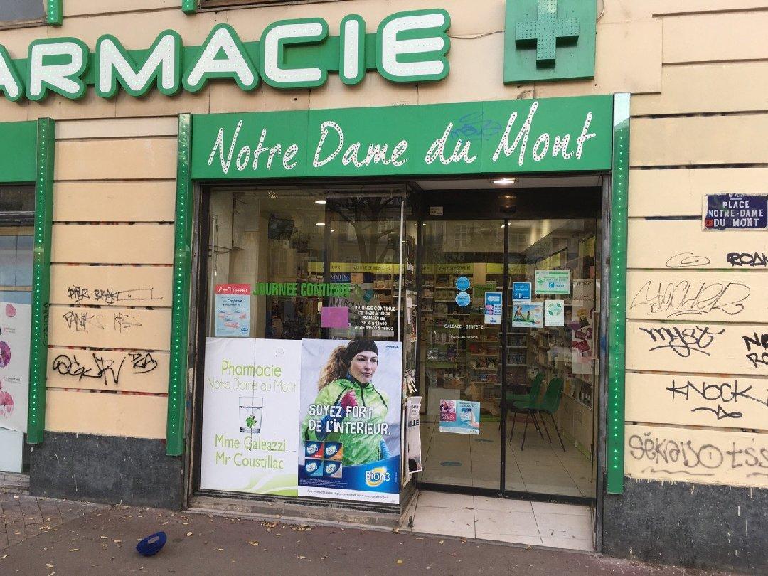 Photo of the November 26, 2016 2:32 PM, Pharmacie Notre Dame Du Mont, 27 Place Notre Dame du Mont, 13006 Marseille, France
