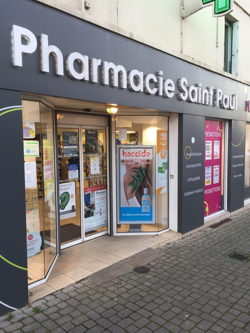 Photo of the November 13, 2017 6:21 PM, Pharmacie Saint Paul, 86 Rue Jean Jaurès, 44400 Rezé, France