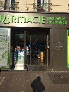 Photo of the November 30, 2016 12:37 PM, Pharmacie des deux colonnes, 7 Cours de Vincennes, 75020 Paris, Francia