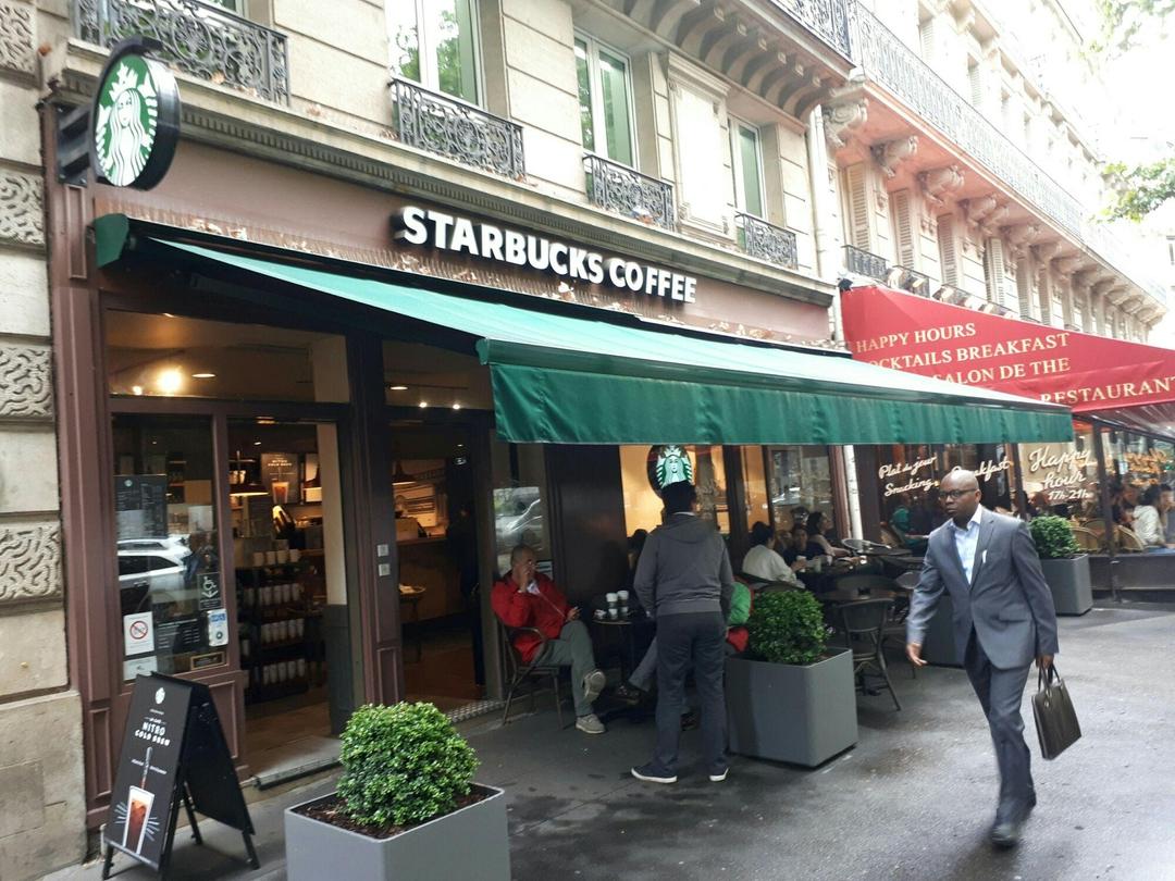 Foto del 6 de junio de 2017 13:27, Starbucks, 32 Boulevard Haussmann, 75009 Paris, France