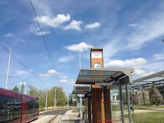 Foto vom 26. April 2018 13:07, Tram arrêt Cézeaux Pellez, 2 Avenue Blaise Pascal, Aubière, France
