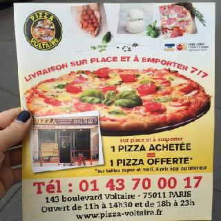 Photo of the May 24, 2016 10:49 PM, Pizza Voltaire, 143 Boulevard Voltaire, 75011 Paris, France