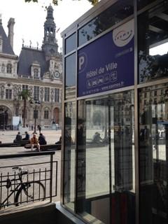 Photo du 17 octobre 2017 11:32, saemes parc de stationnement , Place de l'Hôtel de Ville, Paris, France